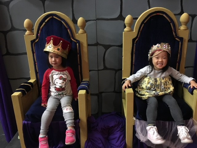 Kids on the throne