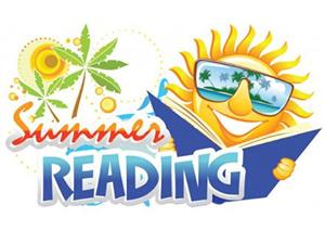 Sun with text saying Summer Reading