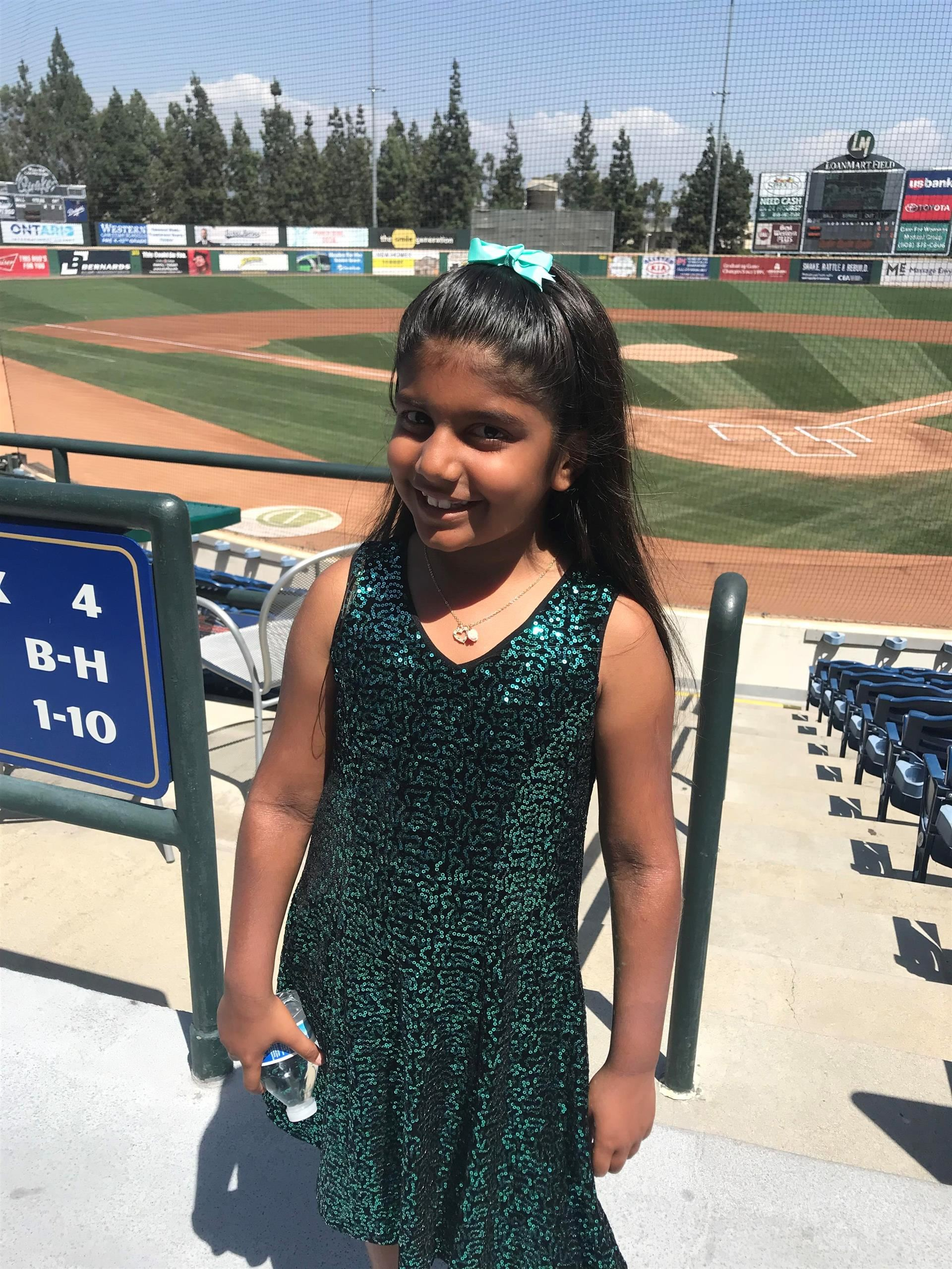 Anjali Singing at Quakes Stadium