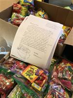 photo of boxes of Halloween Candy